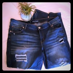 Maurices Destressed Jeans